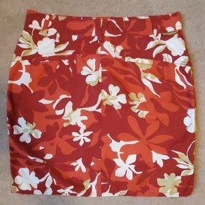 EUC! Columbia Hawaiian print skirt size 12